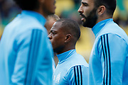 Patrice Evra (Olympique de Marseille) at warm up during the French championship L1 football match between Nantes v Marseille, on August 12, 2017 at the Beaujoire stadium in Nantes, France - Photo Stephane Allaman / ProSportsImages / DPPI
