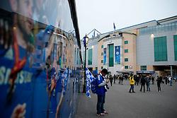 Fans arrive outside Stamford Bridge - Photo mandatory by-line: Rogan Thomson/JMP - 07966 386802 - 11/03/2015 - SPORT - FOOTBALL - London, England - Stamford Bridge - Chelsea v Paris Saint-Germain - UEFA Champions League Round of 16 Second Leg.