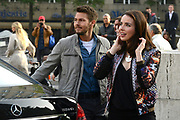 Opnamen van The Bold &amp; The Beautiful op de dam in Amsterdam. / On the set of The Bold &amp; The Beautiful at the dam in Amsterdam.<br /> <br /> Op de foto / On the photo: Scott Clifton and  Ashleigh Brewer