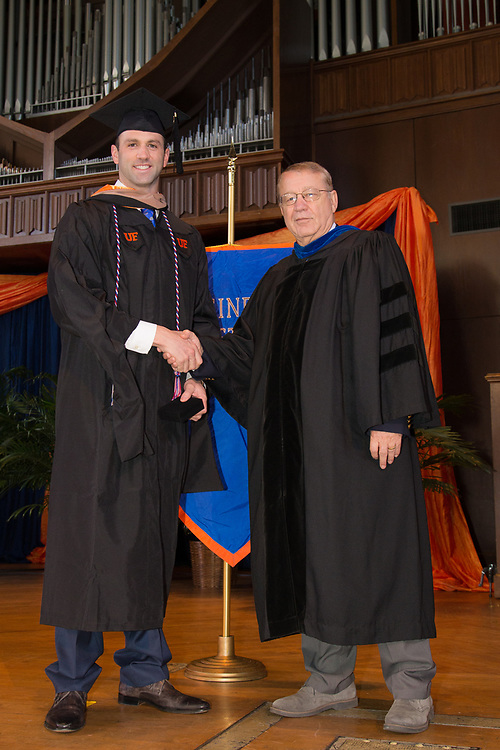 University of Florida Warrington College of Business Administration, Executive and Professionals MBA graduation ceremony at the University Auditorium in Gainesville, Florida.