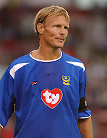 Pre Season Friendly<br />16/07/2003<br />St James Park<br />Teddy Sheringham  during the game at the Fitness First Satdium.