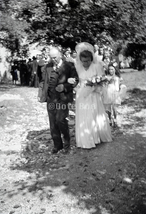wedding of elderly couple