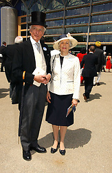 The EARL & COUNTESS OF AIRLIE at the first day of the Royal Ascot racing festival 2006 at Ascot Racecourse, Berkshire on 20th June 2006.<br />