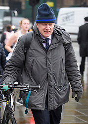 © Licensed to London News Pictures. 09/04/2019. London, UK. BORIS JOHNSON MP is seen arriving at Parliament on the day that British Prime Minister Theresa May has flown to France and Germany to meet with Angela Merkel and Emmanuel Macron. Photo credit: Ben Cawthra/LNP