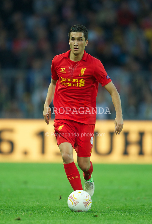 BERNE, SWITZERLAND - Thursday, September 20, 2012: Liverpool's Nuri Sahin in action against BSC Young Boys during the UEFA Europa League Group A match at the Wankdorf Stadion. (Pic by David Rawcliffe/Propaganda)