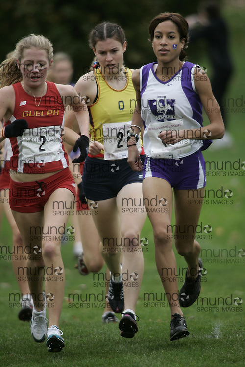 London, Ontario ---27/10/07--- \wom competes at the 2007 OUA cross country championships in London, Ontario, October 27, 2007. .GEOFF ROBINS UWO
