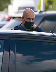 MANCHESTER, ENGLAND - Thursday, July 2, 2020: Manchester City's manager  Pep Guardiola arrives before the FA Premier League match between Manchester City FC and Liverpool FC at the City of Manchester Stadium. The game was played behind closed doors due to the UK government's social distancing laws during the Coronavirus COVID-19 Pandemic. This was Liverpool's first game as Premier League 2019/20 Champions. (Pic by Propaganda)