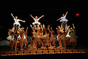 Liam Mower, James Lomas and George McGuire on stage as  Billy Elliot the Musical celebrates First Birthday. Victoria Palace Theatre. 12 May 2006. ONE TIME USE ONLY - DO NOT ARCHIVE  © Copyright Photograph by Dafydd Jones 66 Stockwell Park Rd. London SW9 0DA Tel 020 7733 0108 www.dafjones.com