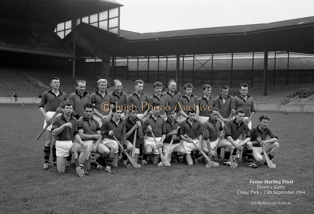 13/09/1964<br /> 09/13/1964<br /> 13 September 1964<br /> Junior Hurling Final: Kerry v Down at Croke Park, Dublin. <br /> Down team.
