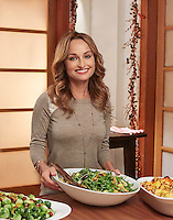 Food Network star Giada De Laurentiis photographed on-set for Food Network's Giada at Home by photographer Michel Leroy.