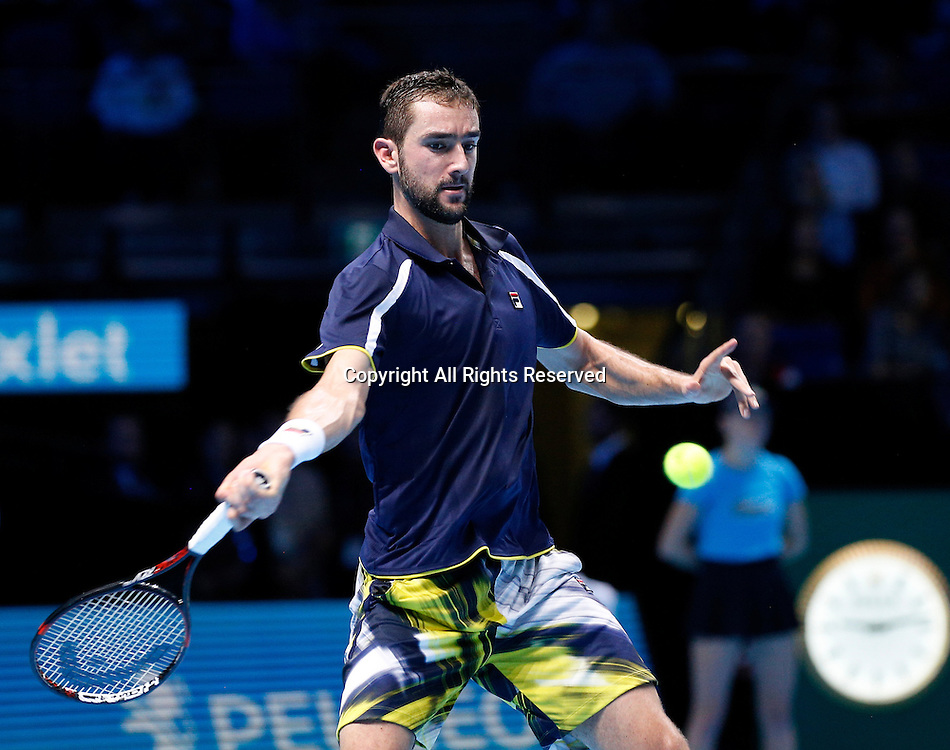14.11.2016. The O2, London, England. ATP Tour Tennis Finals, Day Two.  Andy Murray (GBR) defeats Marin Cilic (CRO) by score of 6-3, 6-2 during Day 2  at Barclays ATP World Tour Finals from the O2 Arena