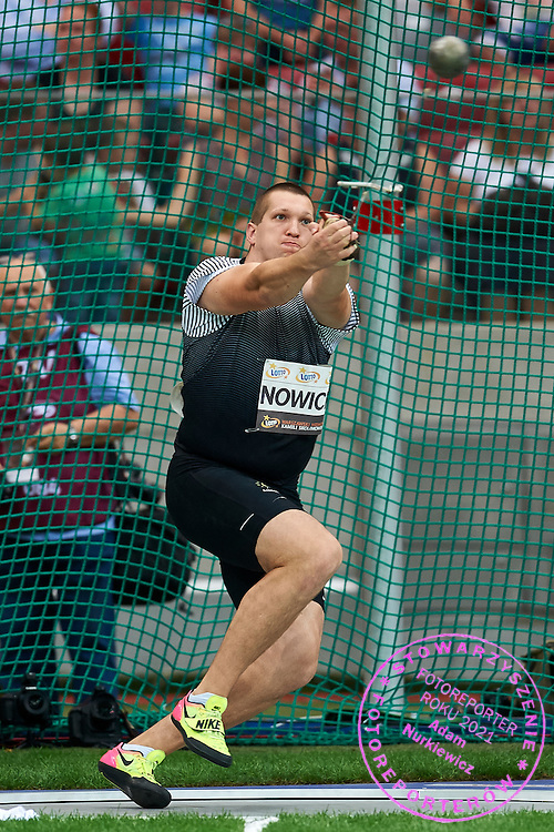 Warsaw, Poland - 2016 August 28: Wojciech Nowicki from Poland competes in men's hammer throw competition during athletics meeting Kamila Skolimowska Memorial 2016 at PGE National Stadium  August 28, 2016 w Warsaw, Poland.<br /> <br /> Adam Nurkiewicz declares that he has no rights to the image of people at the photographs of his authorship.<br /> <br /> Picture also available in RAW (NEF) or TIFF format on special request.<br /> <br /> Any editorial, commercial or promotional use requires written permission from the author of image.<br /> <br /> Mandatory credit:<br /> Photo by &copy; Adam Nurkiewicz