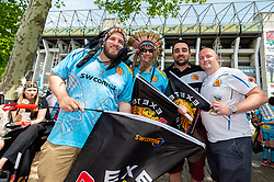 Exeter Chiefs fans prior to kick off  - Mandatory by-line: Ryan Hiscott/JMP - 01/06/2019 - RUGBY - Twickenham Stadium - London, England - Exeter Chiefs v Saracens - Gallagher Premiership Rugby Final