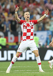 MOSCOW, July 15, 2018  Ivan Perisic of Croatia celebrates scoring during the 2018 FIFA World Cup final match between France and Croatia in Moscow, Russia, July 15, 2018. (Credit Image: © Cao Can/Xinhua via ZUMA Wire)