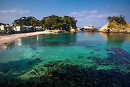 Beach at Dogashima, clearly this is a destination diving resort.  The Izu Peninsula has many great diving spots.