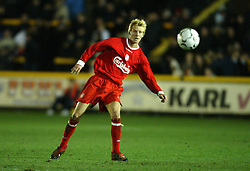 SOUTHPORT, ENGLAND - Tuesday, January 13, 2004: Liverpool's Zak Whitbread in action against Everton during the 'mini-Derby' Premier League reserve match at Haige Avenue. (Pic by David Rawcliffe/Propaganda)