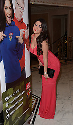 Casey Batchelor attends The Care After Combat Inaugural Ball at The Dorchester Hotel, Park Lane, London on the Tuesday 31st March 2015