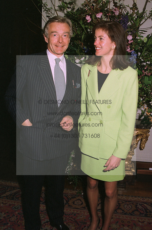 MR CHRISTOPHER DREYFUS and LADY HENRIETTA SPENCER-CHURCHILL, at a reception in London on April 9th 1997.LXN 25