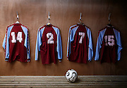 The wanderers kit is hung in the changing room before the Woolpack Wanderers play the Garrison Gunners in a Charity Shield match on the island of St. Marys in the Isles of Scilly Sunday Nov. 11, 2007 Picture by Christopher Pledger