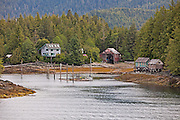 Shoreline of the Inside Passage just before Ketchikan.  Alaska.  USA.