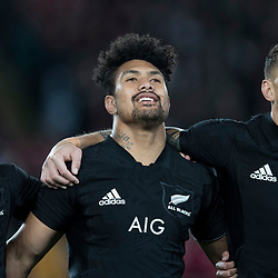 Sonny Bill Williams Ardie Savea Ryan Crotty during game 7 of the British and Irish Lions 2017 Tour of New Zealand, the first Test match between  The All Blacks and British and Irish Lions, Eden Park, Auckland, Saturday 24th June 2017<br /> (Photo by Kevin Booth Steve Haag Sports)<br /> <br /> Images for social media must have consent from Steve Haag