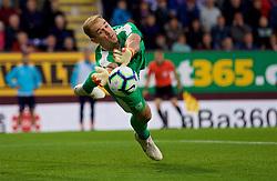BURNLEY, ENGLAND - Thursday, August 16, 2018: Burnley's goalkeeper Joe Hart makes a save during the UEFA Europa League Third Qualifying Round 2nd Leg match between Burnley FC and İstanbul Başakşehir at Turf Moor. (Pic by David Rawcliffe/Propaganda)