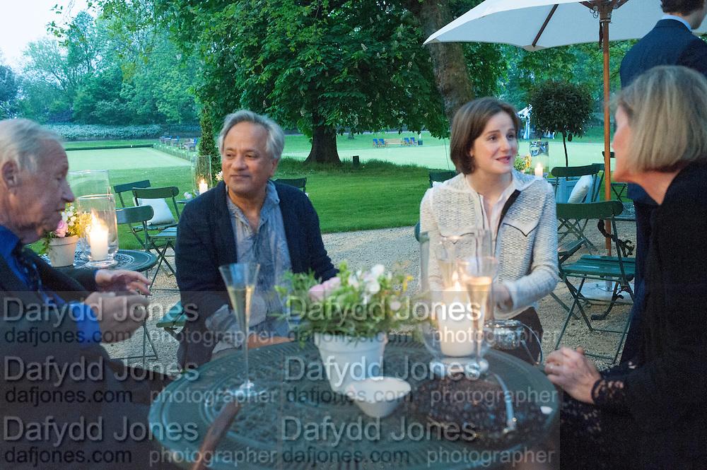 ANISH KAPOOR; SOPHIE WALKER, The Cartier Chelsea Flower show dinner. Hurlingham club, London. 20 May 2013.