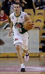 Sani Becirovic (7) of Olimpija at basketball match of 4th Round of NLB League between KK Union Olimpija and KK Crvena zvezda,  on October 24, 2009, Arena Tivoli, Ljubljana, Slovenia.  Union Olimpija won 94:76.  (Photo by Vid Ponikvar / Sportida)
