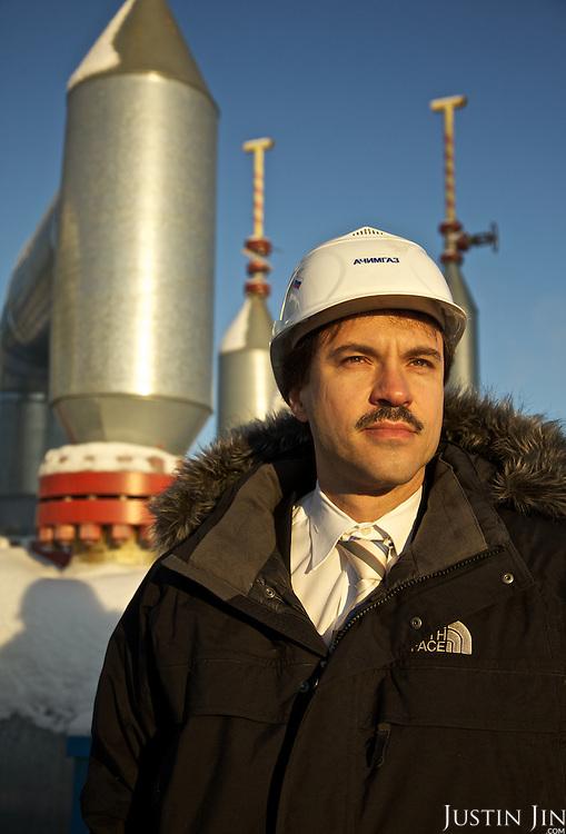 Achimgaz deputy director Ingo Neubert poses for portrait at Achimgaz in Novy Urengoi, Siberia, Russia.