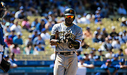 Aug 13 2016 - Los Angeles U.S. CA - Pittsburgh Pirates LP # 6 Starling Marte up a bat during MLB game between LA Dodgers and the Pittsburgh Pirates 8-4 lost at Dodgers Stadium Los Angeles Calif. Thurman James / CSM