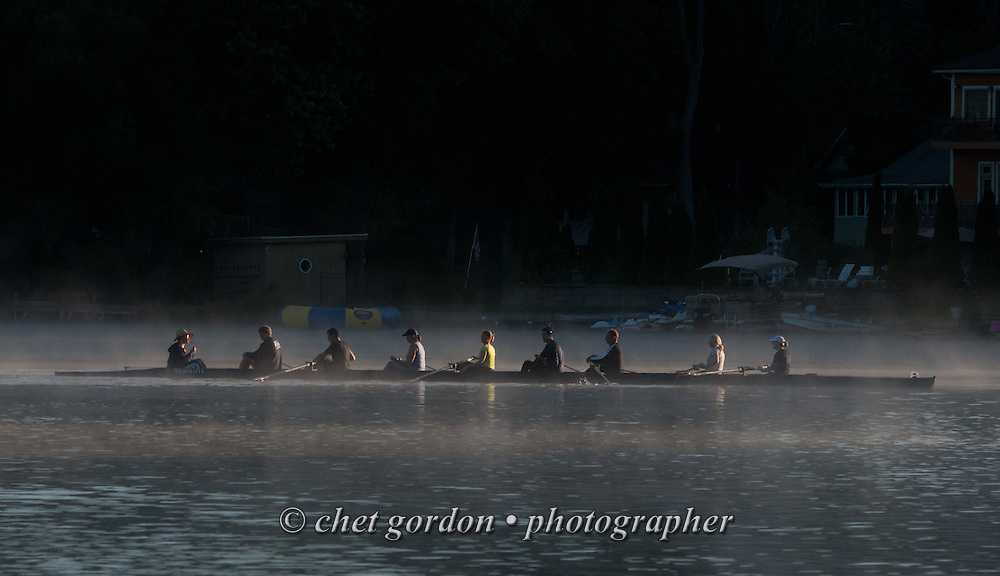 Rowers finish an early morning row on Greenwood Lake, NY on Friday morning, September 16, 2016.  © Chet Gordon • Photographer