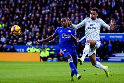 Josh Murphy of Cardiff City takes on Ricardo Pereira of Leicester City - Mandatory by-line: Robbie Stephenson/JMP - 29/12/2018 - FOOTBALL - King Power Stadium - Leicester, England - Leicester City v Cardiff City - Premier League