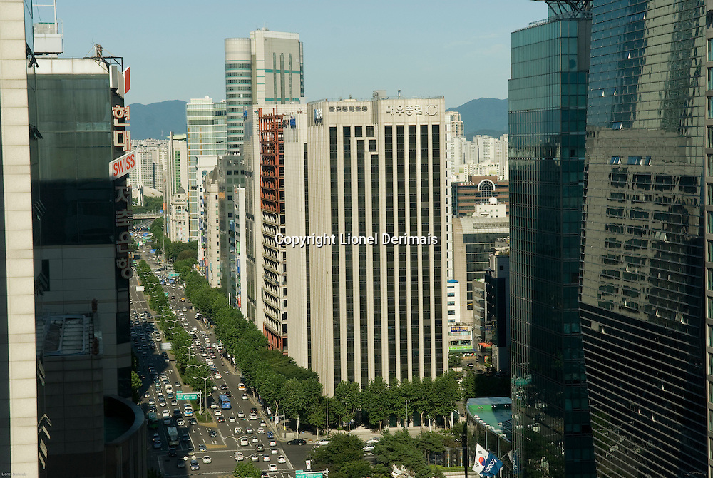 Teheran avenue (aka Teheranno), the South Seoul Central Business District, South Korea. 2009