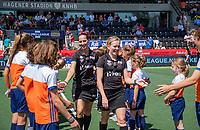 AMSTELVEEN - Umpire JOUBERT Michelle (RSA)<br /> Umpire CHURCH Amber (NZL)   voor   de Pro League hockeywedstrijd dames, Nederland-Australie (3-1) COPYRIGHT  KOEN SUYK