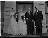 1957 - Wedding Dr K. Murphy and J. Fitzgerald at St. Mary's Church, Haddington Road