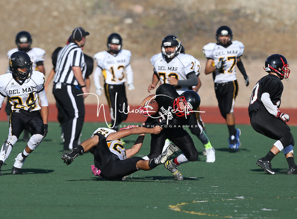 (Photograph by Bill Gerth for SVCN) Del Mar vs Westmont in a preseason football game at Westmont High School, Campbell CA on 9/9/16.  (Westmont 28 Del Mar 6)