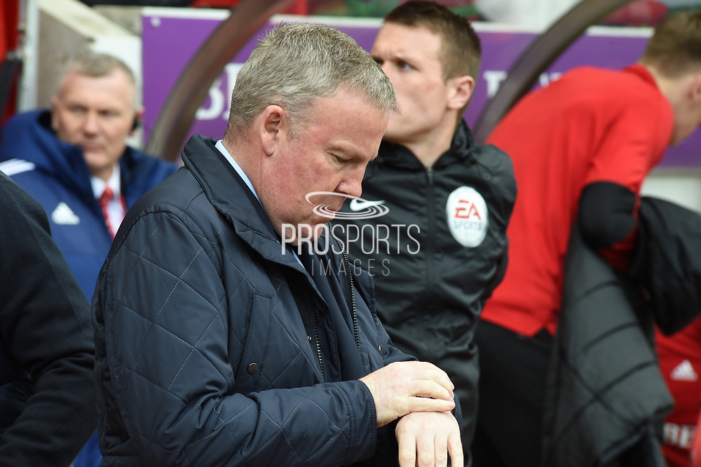 Kenny Jackett during the EFL Sky Bet League 1 match between Sunderland and Portsmouth at the Stadium Of Light, Sunderland, England on 27 April 2019.
