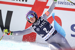 27.01.2018, Lenzerheide, SUI, FIS Weltcup Ski Alpin, Lenzerheide, Riesenslalom, Damen, 2. Lauf, im Bild Tessa Worley (FRA) // Tessa Worley of France reacts after her 2nd run of ladie's Giant Slalom of FIS ski alpine world cup in Lenzerheide, Austria on 2018/01/27. EXPA Pictures © 2018, PhotoCredit: EXPA/ Sammy Minkoff<br /> <br /> *****ATTENTION - OUT of GER*****