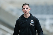 Ciaran Clark (#2) of Newcastle United arrives ahead of the Premier League match between Newcastle United and Swansea City at St. James's Park, Newcastle, England on 13 January 2018. Photo by Craig Doyle.