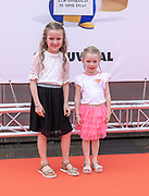 2019, June 02. Pathe ArenA, Amsterdam, the Netherlands. Saar and Janna at the dutch premiere of The Secret Life of Pets 2.