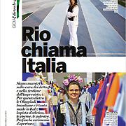 """Rio chiama Italia"", Gioia magazine, Italy, August 2016"
