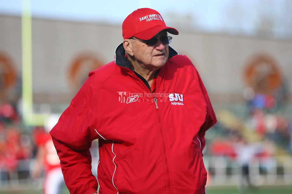 Head coach John Gagliardi. Credit: Brace Hemmelgarn-Saint John's University