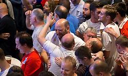 Fans celebrate Daniel Sturridge's late winning goal for England against Wales in The Sports Bar and Grill Ashton Gate - Mandatory by-line: Robbie Stephenson/JMP - 16/06/2016 - FOOTBALL - Ashton Gate - Bristol, United Kingdom  - England vs Wales - UEFA Euro 2016