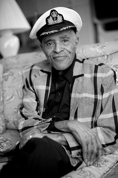 Jazz legend Jon Hendricks photographed in his Manhattan apartment