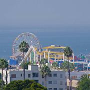 Santa Monica Pier and amusement park. Los Angeles, CA. United States