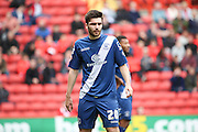 Birmingham City midfielder, Jon Toral (20) looking on during the Sky Bet Championship match between Charlton Athletic and Birmingham City at The Valley, London, England on 2 April 2016. Photo by Matthew Redman.