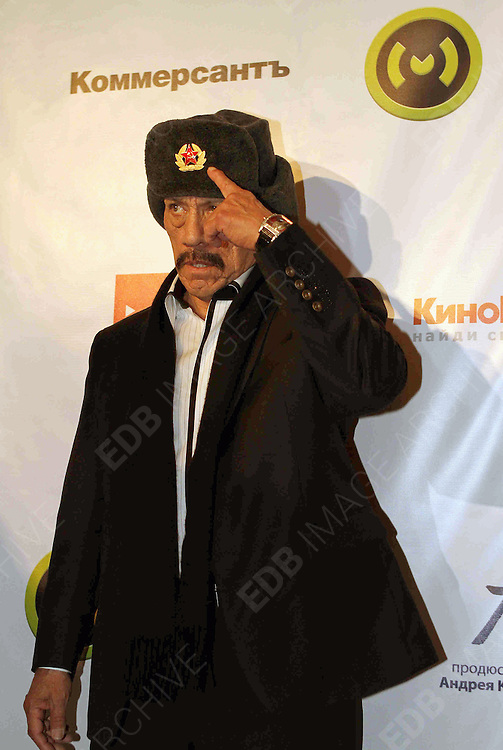 08.NOVEMBER.2012. MOSCOW<br /> <br /> DANNY TREJO ATTENDS THE 'RUNAWAY TRAIN' MOVIE PRESENTATION IN MOSCOW, RUSSIA<br /> <br /> BYLINE: EDBIMAGEARCHIVE.CO.UK<br /> <br /> *THIS IMAGE IS STRICTLY FOR UK NEWSPAPERS AND MAGAZINES ONLY*<br /> *FOR WORLD WIDE SALES AND WEB USE PLEASE CONTACT EDBIMAGEARCHIVE - 0208 954 5968*