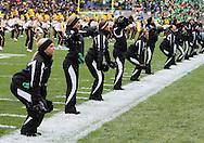 08 NOVEMBER 2008: Iowa dance team preforms before an NCAA college football game against Penn State, at Kinnick Stadium in Iowa City, Iowa on Saturday Nov. 8, 2008. Iowa beat Penn State 24-23.