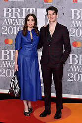 February 20, 2019 - London, United Kingdom of Great Britain and Northern Ireland - Aimee Lee Wood and Connor Swindells arriving at The BRIT Awards 2019 at The O2 Arena on February 20, 2019 in London, England  (Credit Image: © Famous/Ace Pictures via ZUMA Press)