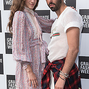 Coco König is an actress arriver at the Graduate Fashion Week 2018, June 6 2018 at Truman Brewery, London, UK.